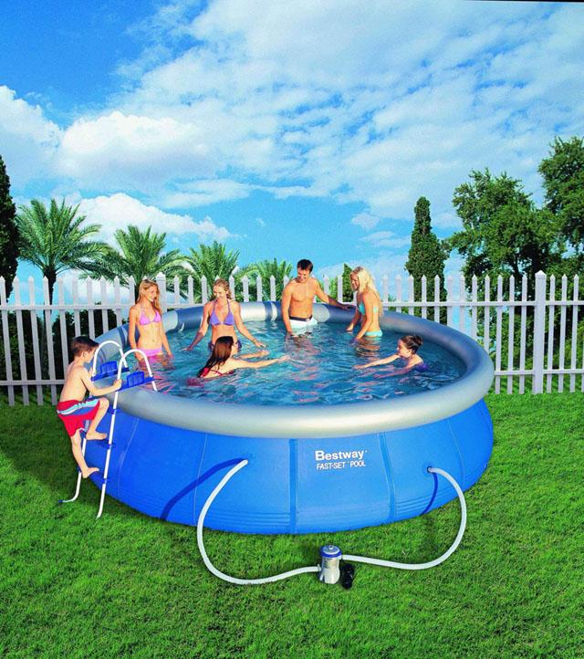 Bestway 57127 Samostavěcí zahradní bazén 457 x 107 cm s příslušenstvím