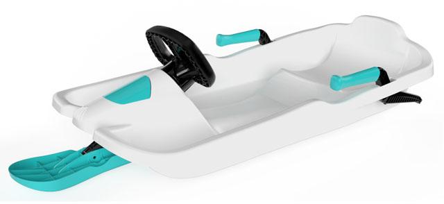 Plastkon - bob Skipper s volantem A2035/3 - bílý
