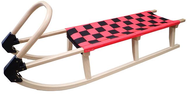 Acra sáně 125cm dřevěné A2042 - červené