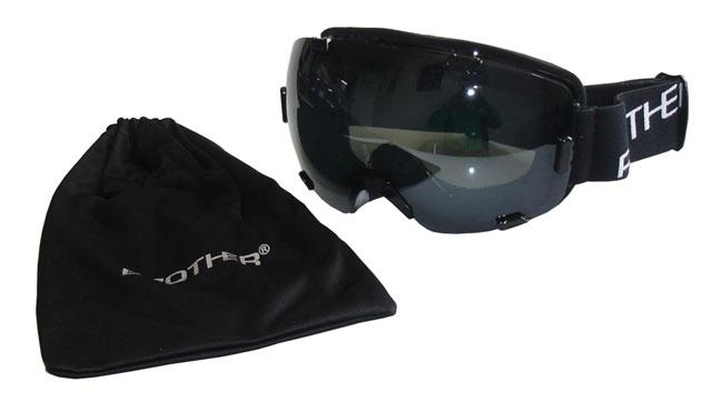 BROTHER B298-CRN Lyžařské brýle,velký zorník,černé