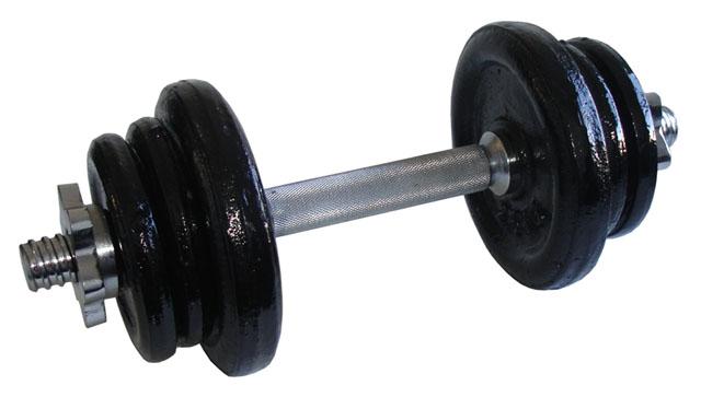 Nakládací jednoruční činky - 11 kg