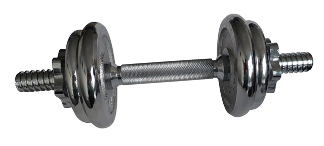 Činka nakládací jednoruční, chromová - 6 kg