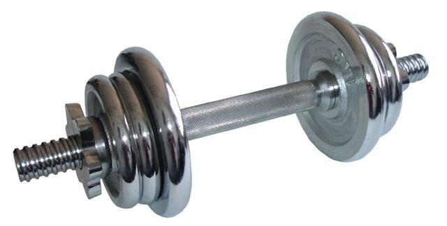 Nakládací činka jednoruční chromovaná - 5,5 kg
