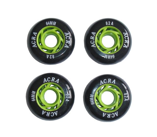 SKATE Náhradní kolečka do kolečkových bruslí 64 x 24 mm - CS05