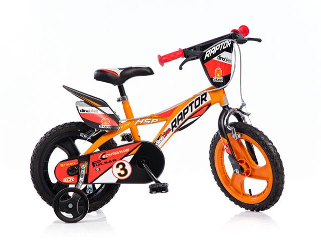 """Dino 143GLN oranžová 14"""" 2017 dětské kolo"""