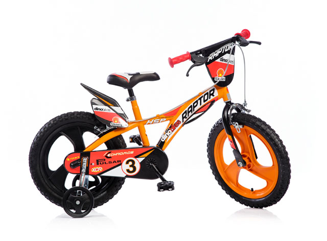 """163GLN oranžová 16"""" 2017 dětské kolo"""