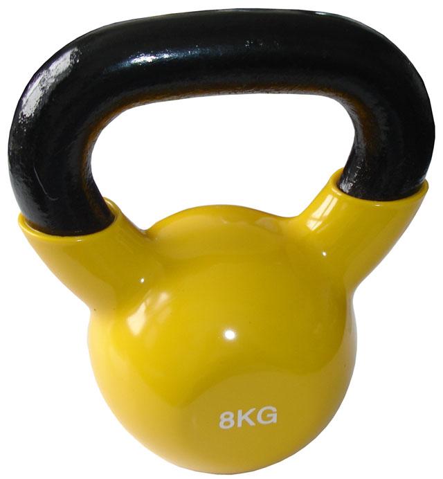 Kettlebell litina 8 kg s vinylovým potahem
