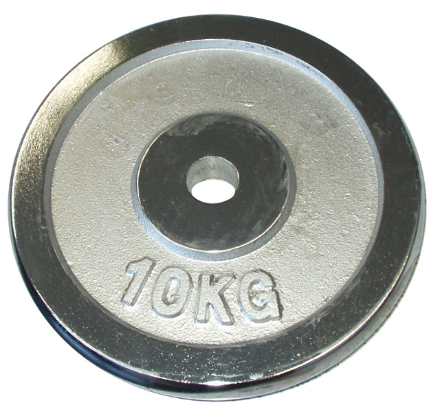 chromové závaží 10kg - 30mm