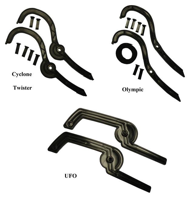 D08 brzdy k bobům Twister, Cyclone. Olympic a UFO