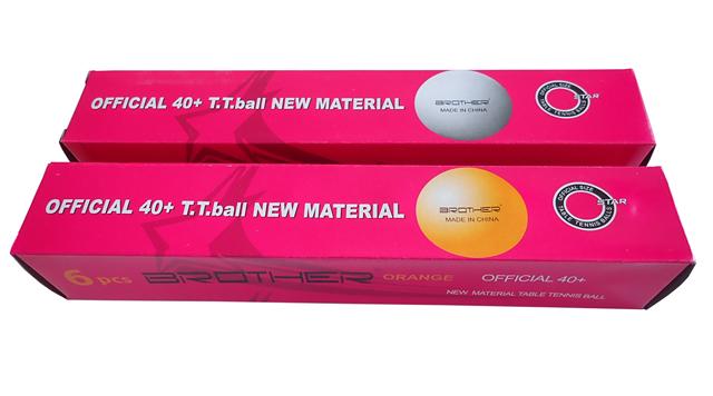 BROTHER G1807-40 míčky na stolní tenis 6ks 40mm