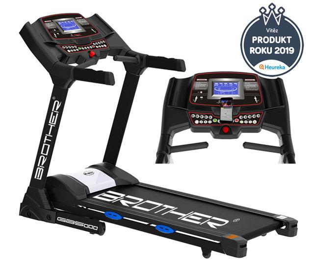 BROTHER GB5000BA Běžecký pás s elektrickým náklonem a s běžeckými aplikacemi