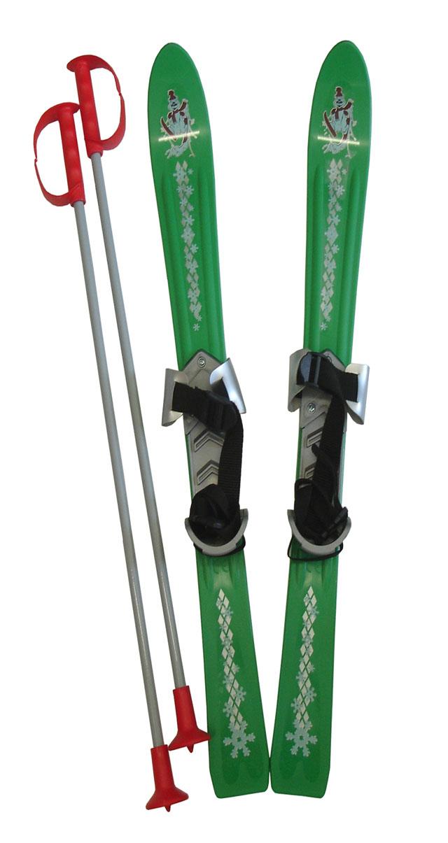 LSP90-ZE Lyže dětské 90cm zelené