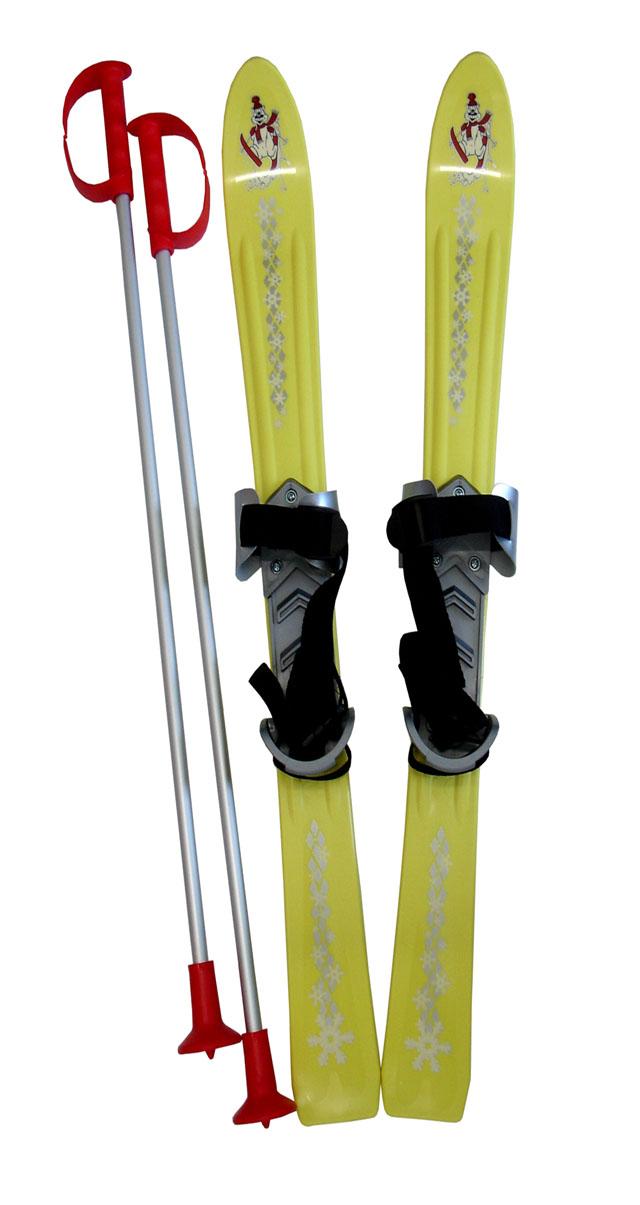 LSP90-ZL Lyže dětské 90cm žluté