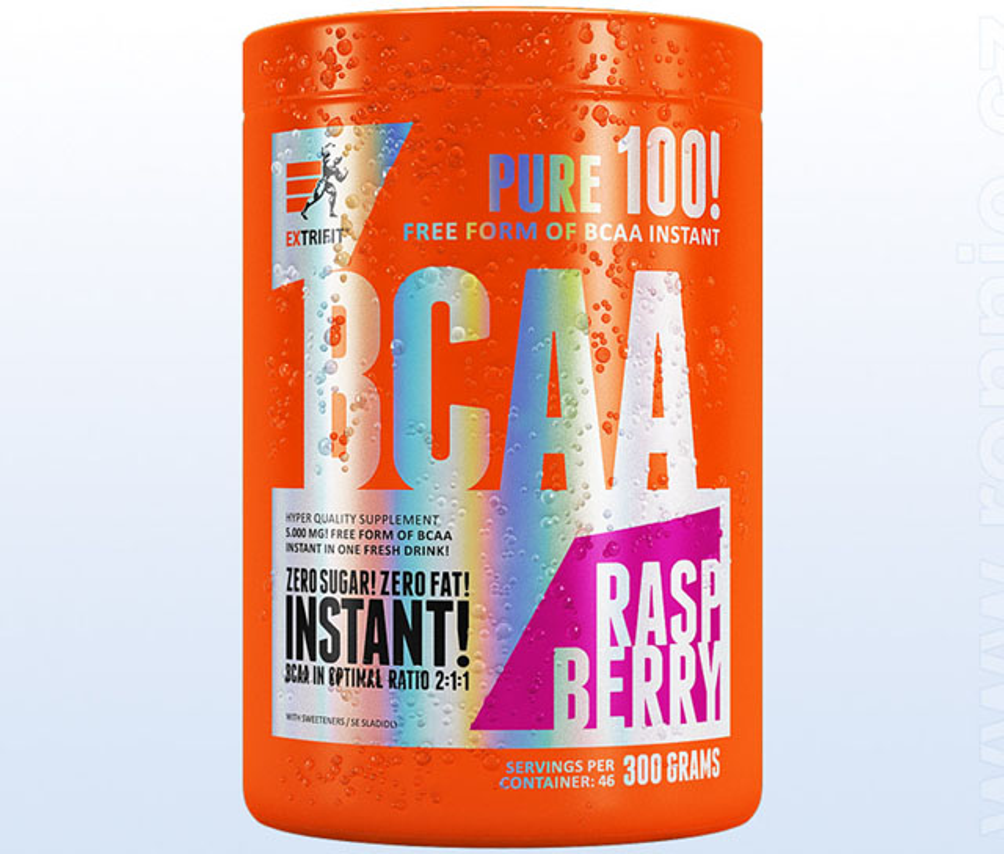 Extrifit BCAA Instant 300g jahoda-máta