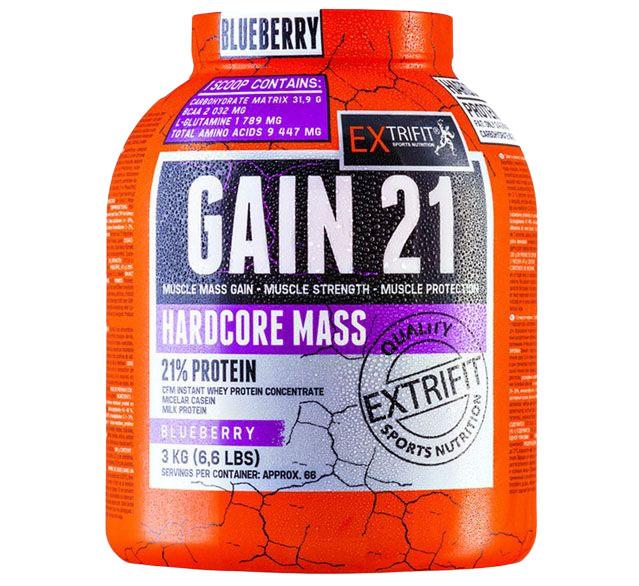 Extrifit Hardcore Gain 21 3kg borůvka