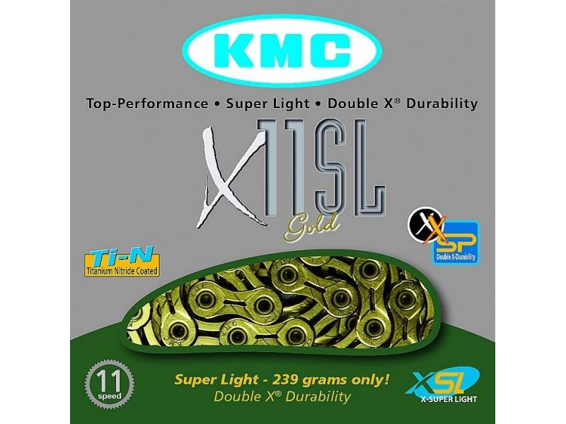 řetěz KMC X-11 SL GOLD BOX 11 kolo