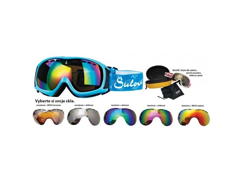 brýle lyžařské SULOV SIERRA, dvojsklo, modré