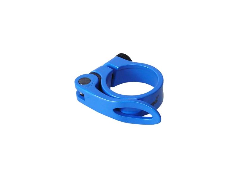 objímka sedlovky MRX 31,8mm modrá