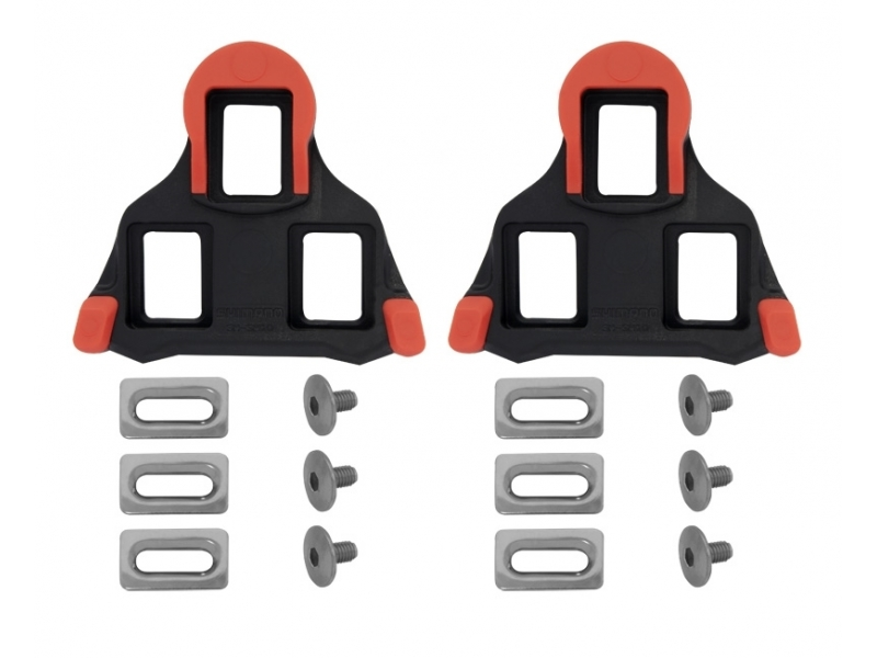 pedály - kufry SH SPD SL SM-SH10 červené silniční pevné