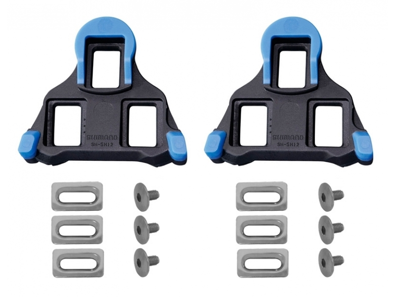 pedály - kufry SH SPD SL SM-SH12 modré silniční, s vůlí
