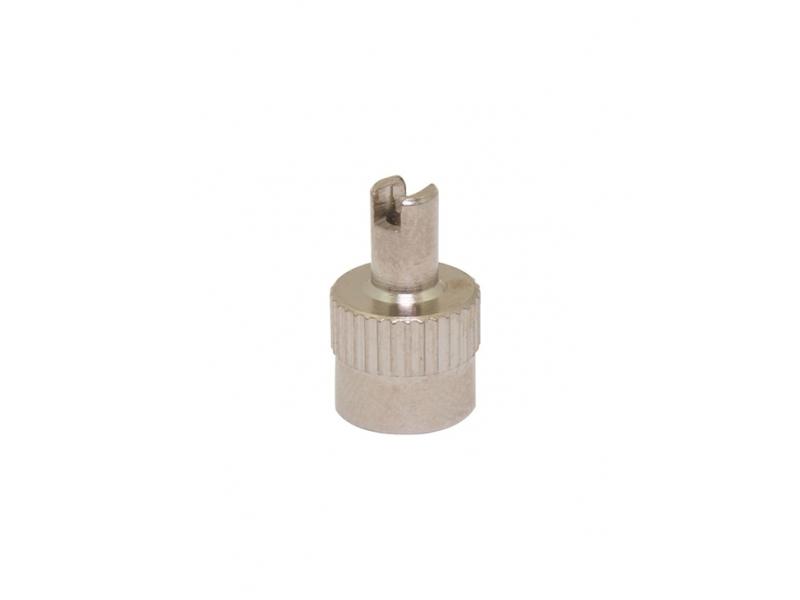 ventilek - čepička moto kovová s klíčkem 10ks
