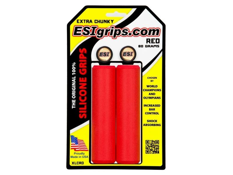 gripy ESI Grips CHUNKY  EXTRA červené