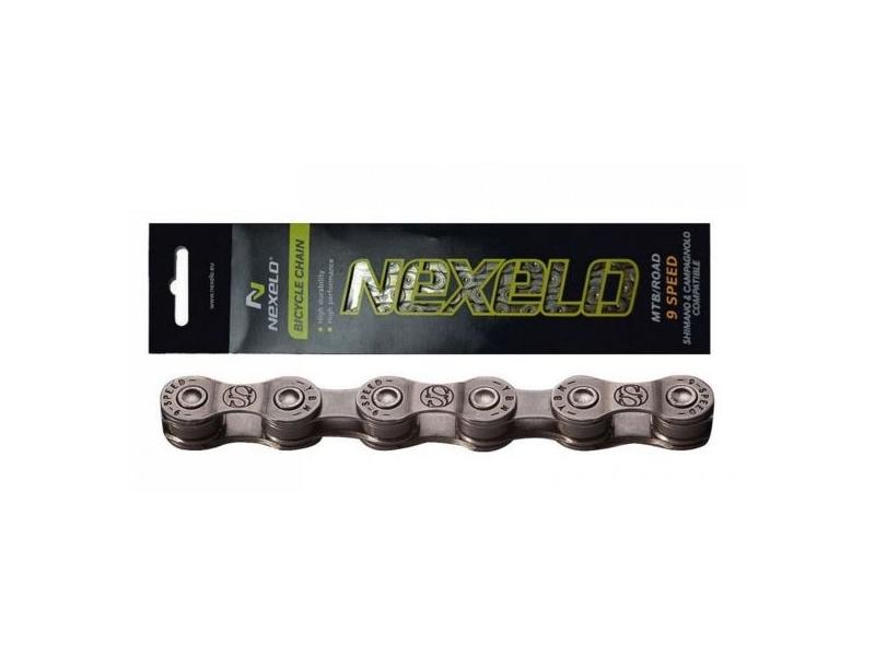 řetěz NEXELO 9-rychlostní šedý BOX