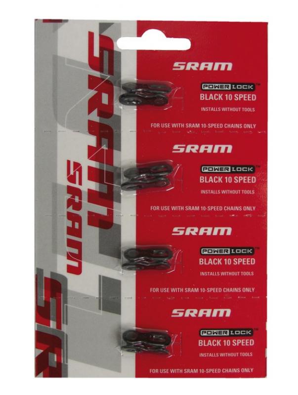 řetěz - spojka SRAM Power Lock 10sp. černá, blistr,1pár