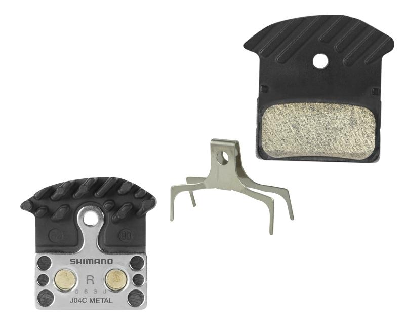 brzdové destičky SHIMANO SH BR-M985 kovové, chladič