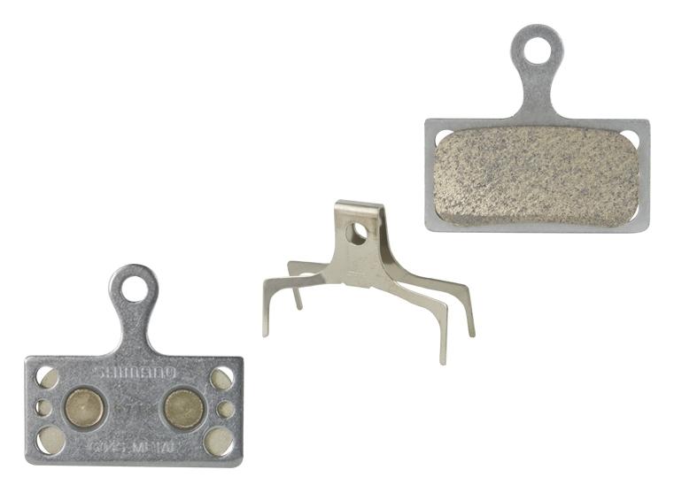 brzdové destičky SHIMANO SH G04S kovové, s pružinou