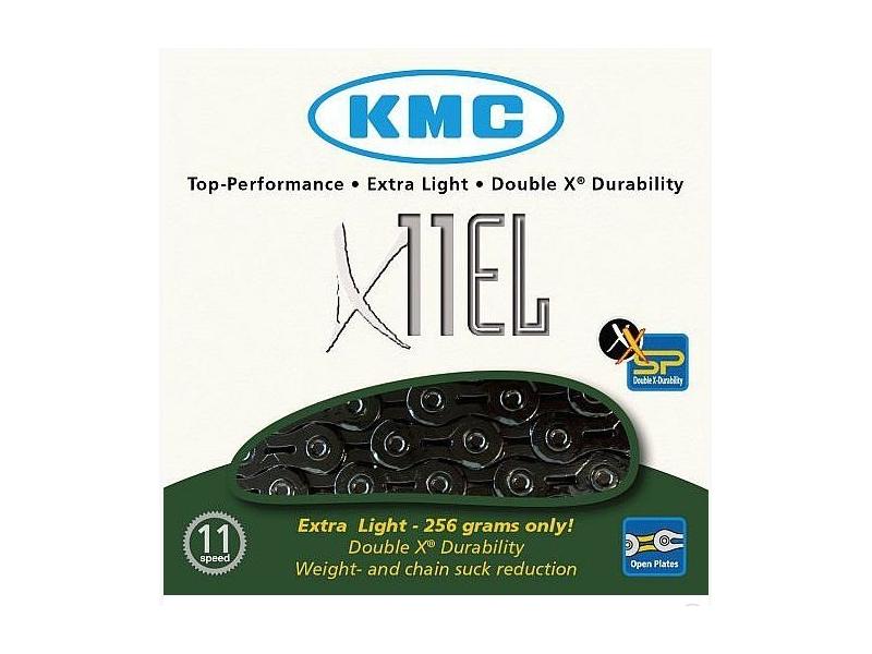 řetěz KMC X-11 EL Extra Light BOX 11 kolo, černý