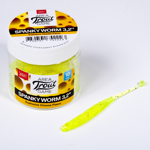 """Lucky John gumové nástrahy Spanky Worm 3,2"""" 10ks - barva 071"""
