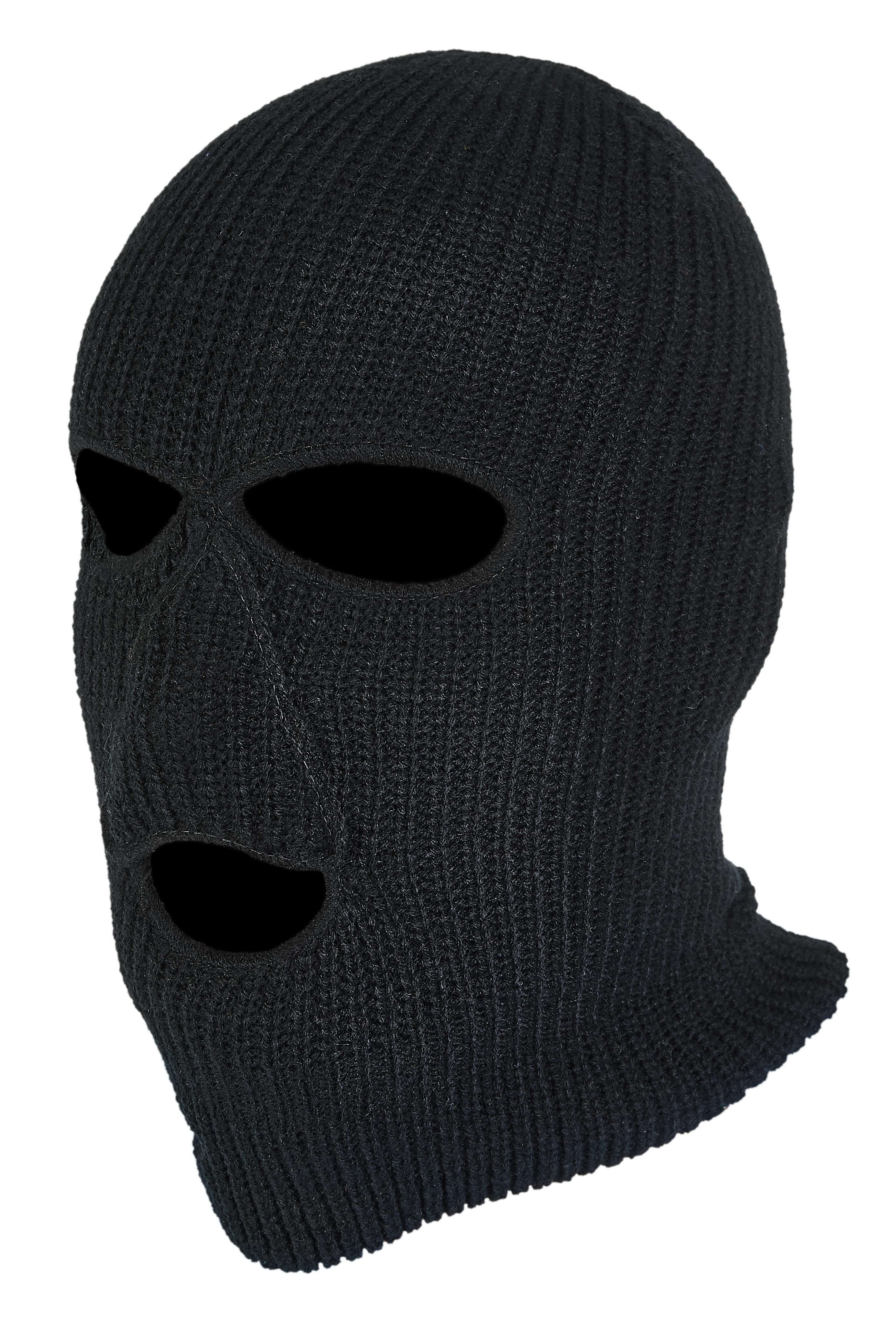 Norfin kukla Hat-Mask Knitted  Black vel. XL