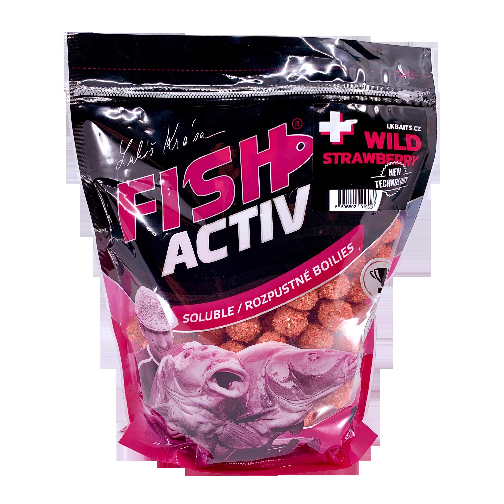 LK Baits Fish Activ Plus Wild Strawberry 1Kg